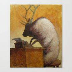 The Struggling Poet Canvas Print