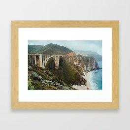 Bixby Bridge   Big Sur California Highway Ocean Coastal Travel Photography Framed Art Print