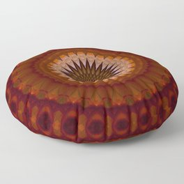 Mandala in red and orange tones Floor Pillow