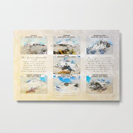 7 Summits, the worlds highest mountains Metal Print