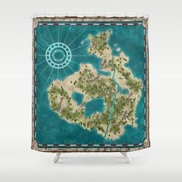 Pirate Adventure Map Shower Curtain