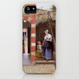 "Pieter de Hooch ""The Courtyard of a House in Delft"" iPhone Case"