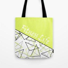 The fitness club . Sport . Lemon white creative sport pattern . Tote Bag