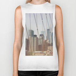 New York from Brooklyn Bridge Biker Tank