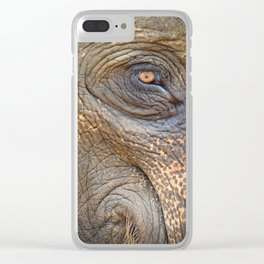 Close-up Elephant eye Clear iPhone Case