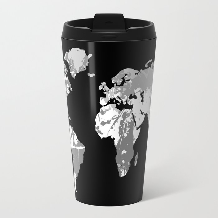 Monochromatic world map travel mug by hhprint society6 monochromatic world map travel mug gumiabroncs Image collections