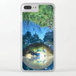 Water pond covered with dense greenery Clear iPhone Case