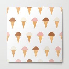 Multiple Ice-creams Metal Print