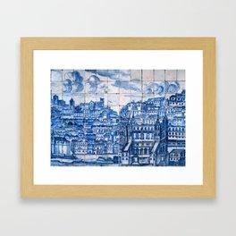 Lisbon portugal Azulejo Tile art Framed Art Print
