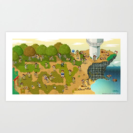 Super Battle Royale Art Print