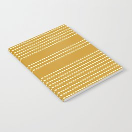 Spotted, Mudcloth, Mustard Yellow, Wall Art Boho Notebook