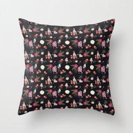 Eastern delight Japanese garden Throw Pillow
