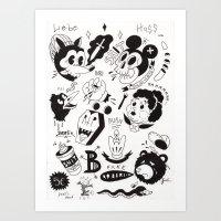 berlin Art Prints featuring Berlin  by Jimmy Kid