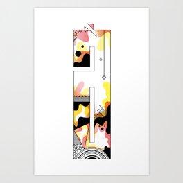 a typo Art Print