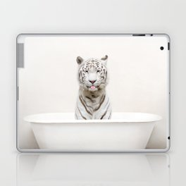 White Tiger in a Vintage Bathtub (c) Laptop & iPad Skin