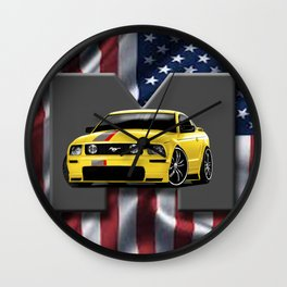Patriot - Mustang Wall Clock