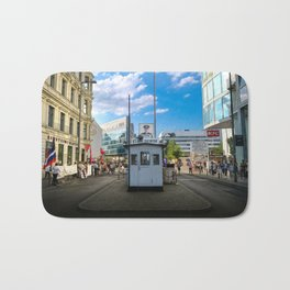 Checkpoint Charlie in Berlin Bath Mat