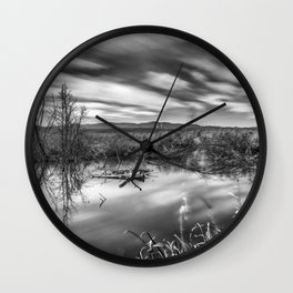 """Mammoth Paradise II"" Bw Wall Clock"