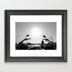 Motorcycles Stand By Framed Art Print