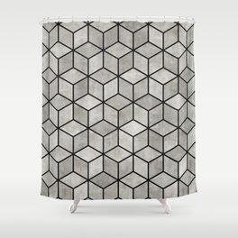 Concrete Cubes Shower Curtain