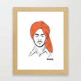 Bhagat Singh #IpledgeOrange Framed Art Print
