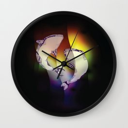 Whales Rainbow Wall Clock