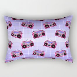 Boombox / Blue Grid Rectangular Pillow