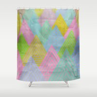 acid Shower Curtains featuring Acid Mountains by Angelo Cerantola