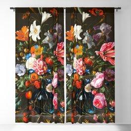"""Jan Davidsz de Heem """"Vase of Flowers"""" Blackout Curtain"""