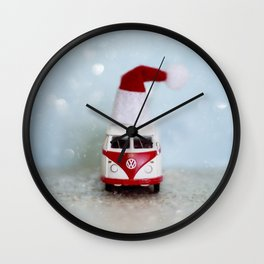 Vintage Bus Christmas Wall Clock