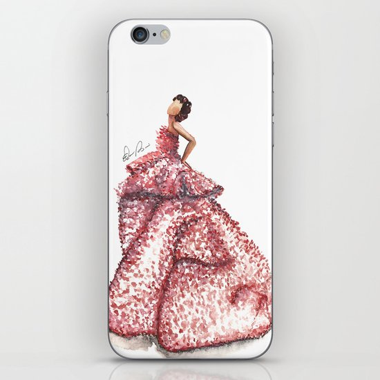 Slight Arc Watercolor Fashion Illustration iPhone & iPod Skin