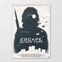 tintin Canvas Prints featuring John Carpenter's Escape From New York by Alain Bossuyt