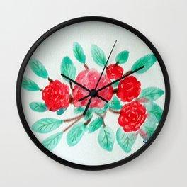 Roses V Wall Clock