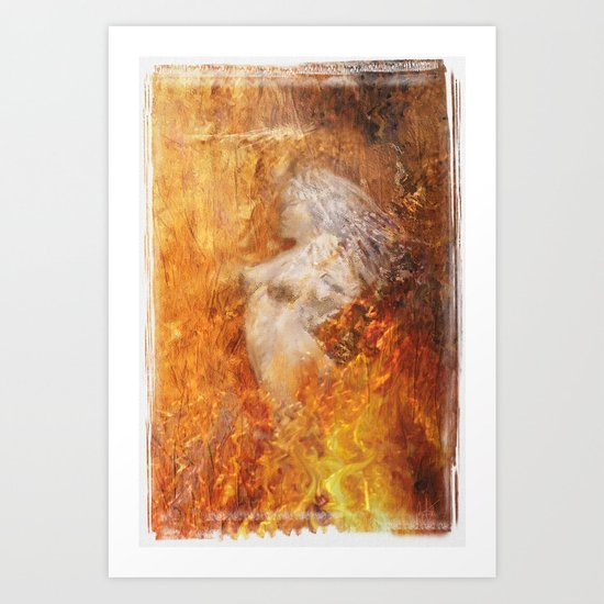 Fire Hed Art Print