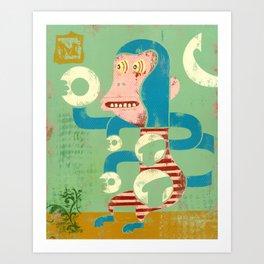 M is for Monkey Art Print