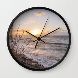 """Sicily, at sunset... that """"smell"""" of saltiness.... Wall Clock"""