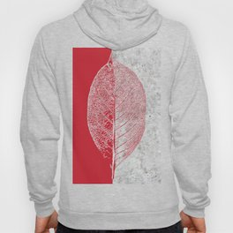 Natural Outlines - Leaf Red & Concrete #635 Hoody