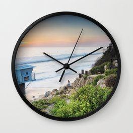 Pipes Beach Wall Clock