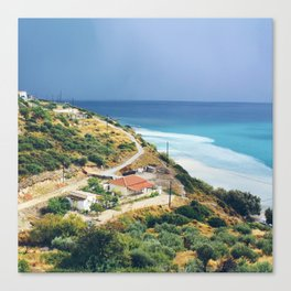 Samos, Greece After A Storm (Square) Canvas Print