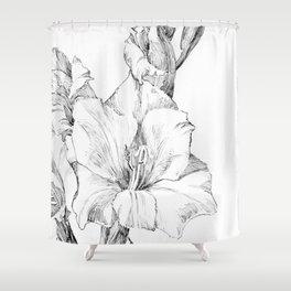 Julie de Graag - Gladiolus Shower Curtain