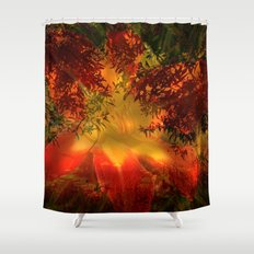 Daydreams on the edge of nature Shower Curtain