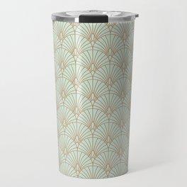 Art Deco fan pattern Travel Mug