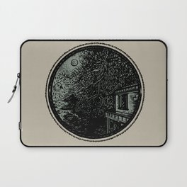 Miniature Circle Landscape 1: Morning Vision Laptop Sleeve