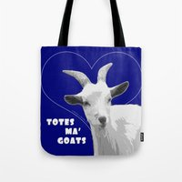 totes Tote Bags featuring Totes Ma Goats - Blue by BACK to THE ROOTS