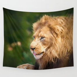 King Of The Jungle (digital Painting) Wall Tapestry