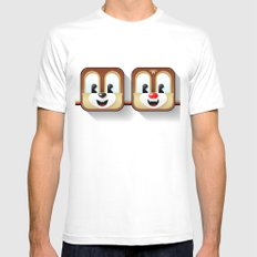 chip and dale Mens Fitted Tee White MEDIUM