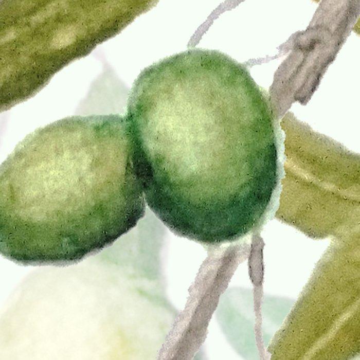 Green Olive watercolor painting Leggings