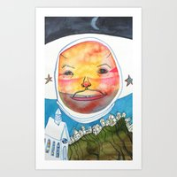 ufo Art Prints featuring UFO by Casey Landerkin