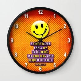 A Cheerful Look Wall Clock