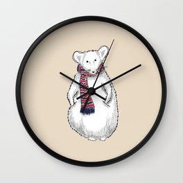 Autumn Mouse Wall Clock